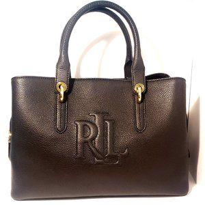 Ralph Lauren Pebble Leather Black Satchel